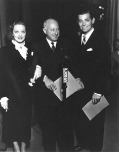 Marlene Dietrich, Cecil B. DeMille, Clark Gable,c. 1932.**R.C. - Image 0709_1095