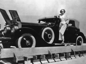 Marlene Dietrich with her 1936 Rolls Royce1936** M.W. - Image 0709_1101