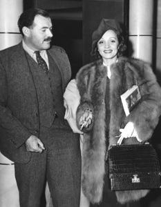 Marlene Dietrich with Ernest Hemingwayreturning on the SS Normandie from Europe1938**I.V. - Image 0709_1962