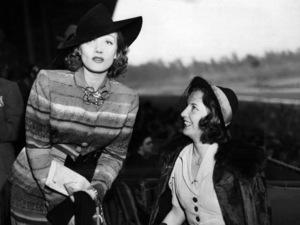 Marlene Dietrich and Barbara Stanwyck on Derby Day 1938** I.V. - Image 0709_1998