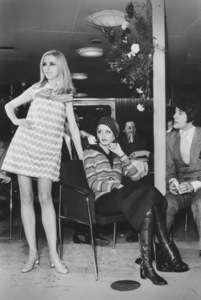 Twiggy with managerJustin de Villaneuve during a fashion show in Germany1968 - Image 0710_0047