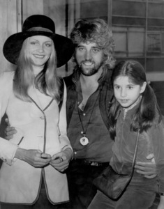 Twiggy, Justin de VilleneuveWith his 10 yr old daughter,Melanie,at London Airport1970 - Image 0710_0055