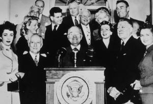 Elizabeth Taylor, President Harry S. Truman, Debbie Reynolds, Randolph ScottC. 1950**R.C.MPTV - Image 0712_0118