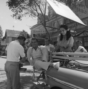 """Elizabeth Taylor and Montgomery Clift on the set of """"Raintree County""""1956 MGM© 1978 Sid Avery - Image 0712_0146"""