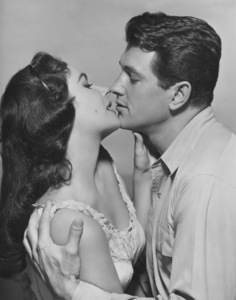 "Elizabeth Taylor and Rock Hudson in ""Giant""1955 © 1978 Bert SixMPTV - Image 0712_0547"