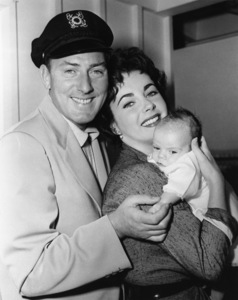 Elizabeth Taylor and Michael Wilding with their first child, Michael Howard Jr.1953 - Image 0712_2159