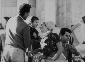 "Elizabeth Taylor, Eddie Fisher and Richard Burton on the set of ""Cleopatra""1963MPTV - Image 0712_2218"