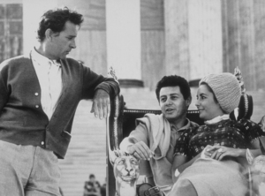"Elizabeth Taylor, Eddie Fisher and Richard Burton in Rome during filming of ""Cleopatra""1961MPTV - Image 0712_5003"