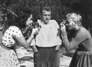 "Elizabeth Taylor,Bob Willoughby, andEva Marie Saint On the set of ""Raintree County""  1957 © 1978 Bob Willoughby - Image 0712_5060"