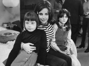 Elizabeth Taylor with childrenMaria Burton & Liza ToddC. 1968 - Image 0712_5090