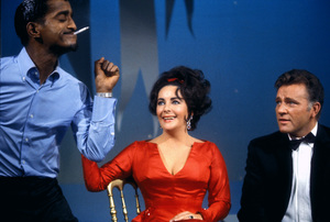 Sammy Davis Jr., Elizabeth Taylor and Richard Burton on an NBC television show1965 © 1978 Bob Willoughby  - Image 0712_5150