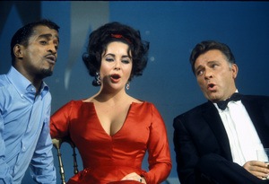 Sammy Davis Jr., Elizabeth Taylor and Richard Burton on an NBC television show1965 © 1978 Bob Willoughby  - Image 0712_5152