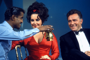 Sammy Davis Jr., Elizabeth Taylor and Richard Burton on an NBC television show1965 © 1978 Bob Willoughby  - Image 0712_5155