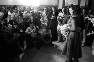 Elizabeth Taylor and Eddie Fisher posing for photographers on their wedding day1959 / Las Vegas, Nevada © 1978 Bob Willoughby - Image 0712_5165