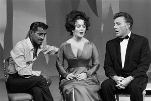 Sammy Davis Jr., Elizabeth Taylor and Richard Burton on an NBC television show 1965 © 1978 Gunther - Image 0712_5168