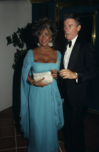 Elizabeth Taylor and Roddy McDowall1985 © 1985 Gary Lewis - Image 0712_5231