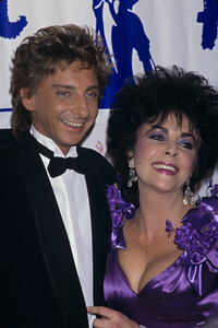 Elizabeth Taylor and Barry Manilow1988 © 1988 Gary Lewis - Image 0712_5246