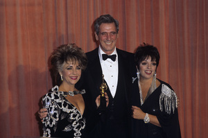 """Elizabeth Taylor with Rock Hudson and Liza Minnelli at """"The 42nd Annual Golden Globe Awards"""" 1985 © 1985 Gary Lewis - Image 0712_5254"""