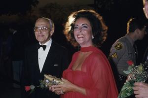 Elizabeth Taylor and George Cukor circa 1978 © 1978 Gary Lewis - Image 0712_5261