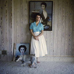 Elizabeth Taylor at her Beverly Hills home (1953 Phillip Noyer painting behind head)circa 1956© 1978 Sanford Roth / A.M.P.A.S. - Image 0712_5308
