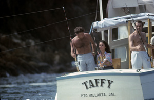 Elizabeth Taylor and Richard Burton aboard the Taffycirca 1960s© 1978 Gunther** J.C.C. - Image 0712_5321