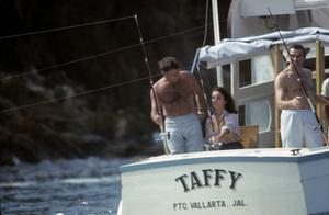 Elizabeth Taylor and Richard Burton aboard the Taffycirca 1960s© 1978 Gunther** J.C.C. - Image 0712_5321