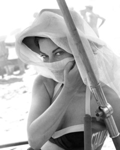 """Ava Gardner during filming of """"On the Beach""""1959* I.V. - Image 0713_0616"""