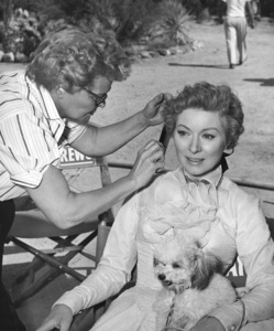 """Greer Garson in """"Strange Lady in Town"""" with her pet poodle Pasco1955 Warner Brothers - Image 0714_0012"""