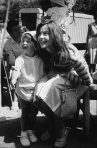 """Leslie Caron and her daughter Jennifervisit the set of """"Fanny""""1961 - Image 0715_0019"""