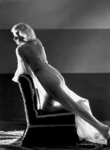 Jean Harlow posing semi nude in sheer gown 1936Photo by George Hurrell - Image 0716_0924