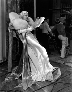 """Jean Harlow on the set of """"Dinner at Eight""""1933 MGM** I.V. - Image 0716_1202"""