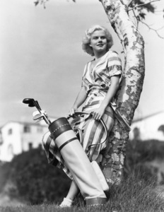 Jean Harlow on the course of the Riviera Country Club in Los Angeles 1932Photo by Clarence Sinclair Bull** I.V. / M.T. - Image 0716_1254
