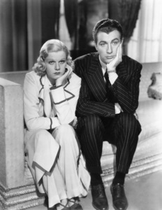"""Jean Harlow and Robert Taylor in """"Personal Property""""1937 MGM** I.V. / M.T. - Image 0716_1267"""
