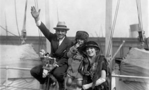 Douglas Fairbanks Sr. and Mary Pickford on the Olympic 1921** I.V. - Image 0718_1153