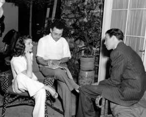 "Katharine Hepburn, Dir. George Cukor, Jimmy Stewart on the set ""Philadelphia Story, The"" 1940 MGM / ** I.V. - Image 0722_1000"