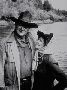 "Katharine Hepburn and John Wayne in ""Rooster Cogburn"" 1975 Universal - Image 0722_1010"