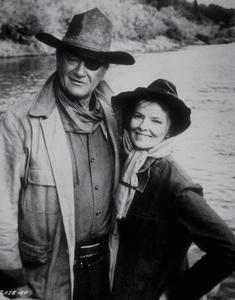 "Katharine Hepburn and John Wayne in""Rooster Cogburn""1975 Universal - Image 0722_1011"