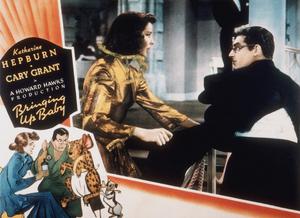 "Katharine Hepburn and Cary Grant in ""Bringing Up Baby""1938 RKOColor Loby Card - Image 0722_1108"