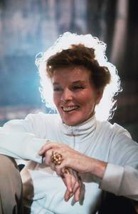 """Katharine Hepburn on Location for""""Lion In Winter""""1968 © 1978 Bob Willoughby - Image 0722_2227"""