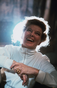 """Katharine Hepburn on location for""""Lion In Winter""""1968 © 1978 Bob Willoughby - Image 0722_2230"""