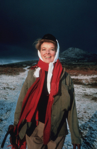 """Katharine Hepburn on location for""""Lion In Winter""""1968 © 1978 Bob Willoughby - Image 0722_2237"""