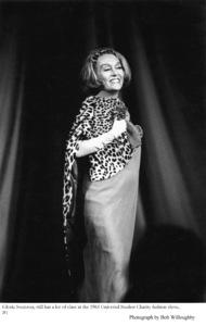 Gloria Swanson at Universal Studios Fashion Show1964 © 1978 Bob Willoughby - Image 0723_0032