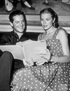 """Grace Kelly and Robert Cummings rehearsingfor the move """"Dial M For Murder.""""1954 Warner Bros.Photo by Jack Albin - Image 0724_0020"""