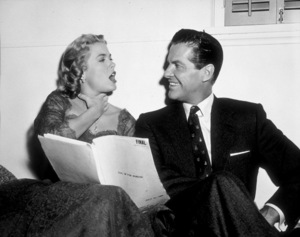 """Grace Kelly and Robert Cummings readingtheir lines for """"Dial M For Murder.""""1954 Warner Bros - Image 0724_0022"""