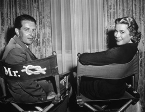 "Grace Kelly and author Frederick Knott of ""Dial M For Murder""1954 WarnerPhoto by Pat Clark - Image 0724_0109"