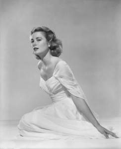 Grace Kelly in a gown of white draped chiffon by Edith Headcirca 1956** I.V. - Image 0724_0136