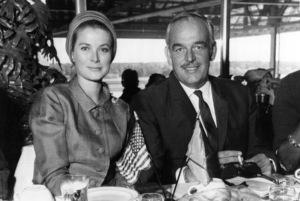 Grace Kelly and Prince Rainier at United Nations Day Luncheon held at Atlantic City race course, 9/17/66. - Image 0724_0216