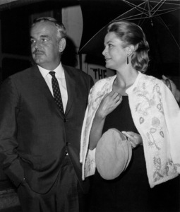 Grace Kelly with husband Prince Rainier leave Arthur