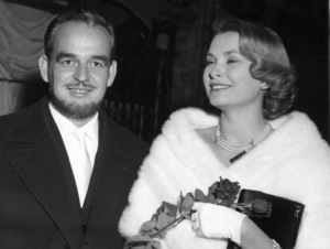 Grace Kelly with Prince Rainier in Paris, 10/23/57.**I.V. - Image 0724_0286
