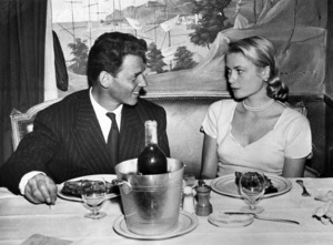 Grace Kelly with Jean-Pierre Aumont at the Regency Club in Paris, 1955.**I.V. - Image 0724_0297